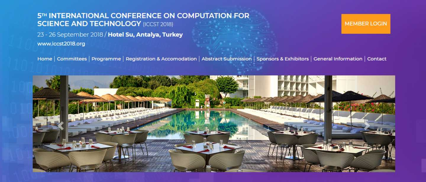 ICCST2018.ORG Computation For Science And Technology Congress Web Sitesi